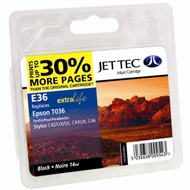 Jet Tec ( Made in the UK) Black Ink Cartridge for T036401, 14ml