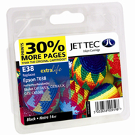 Jet Tec ( Made in the UK) Black Ink Cartridge for T038, 14ml