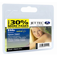 Jet Tec ( Made in the UK) Lightfast Black Ink Cartridge for T044140, 21ml