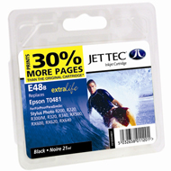 Jet Tec (Made in the UK) E48B Black Ink Cartridge for T048140, 13ml