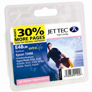 Jet Tec (Made in the UK) E48LM Light Magenta Ink Cartridge for T048640, 13ml