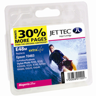 Jet Tec (Made in the UK) E48M Magenta Ink Cartridge for T048340, 13ml