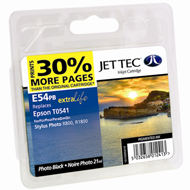 Jet Tec ( Made in the UK) E54PB Photo Black Lightfast Ink Cartridge for T054140, 21ml