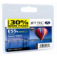 Jet Tec (Remanufactured in the UK) E55B Black Ink Cartridge for T055140, 8ml