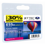 Jet Tec (Remanufactured in the UK) E55M Magenta Ink Cartridge for T055340, 8ml