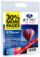 Jet Tec (Remanufactured in the UK) Black, Cyan, Magenta, Yellow Ink Cartridge for T055640