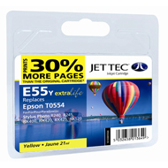 Jet Tec (Remanufactured in the UK) E55Y Yellow Ink Cartridge for T055440, 8ml