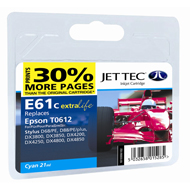 Jet Tec ( Made in the UK) E61C Compatible Cyan Ink Cartridge for T061240, 8ml