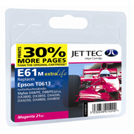 Jet Tec ( Made in the UK) E61M Compatible Magenta Ink Cartridge for T061340, 8ml