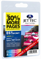 Jet Tec ( Made in the UK) Black, Cyan, Magenta, Yellow Ink Cartridges Quad Pack