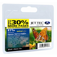Jet Tec ( Made in the UK) E71B Compatible Black Ink Cartridge for T071140, 13ml