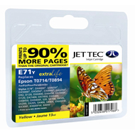 Jet Tec (Remanufactured in the UK) E71Y Yellow Ink Cartridge for T071440, 5.5ml
