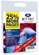 Jet Tec ( Made in the UK) Black, Cyan, Magenta, Yellow, Light Cyan, Light Magenta Ink Cartridges Multi Pack