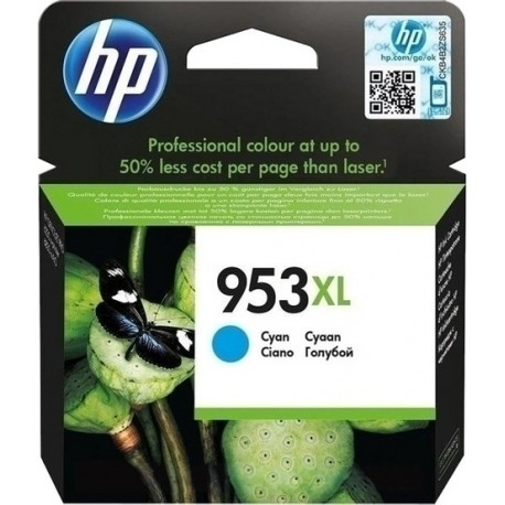 HP 953XL High Capacity Cyan Ink Cartridge - F6U16A