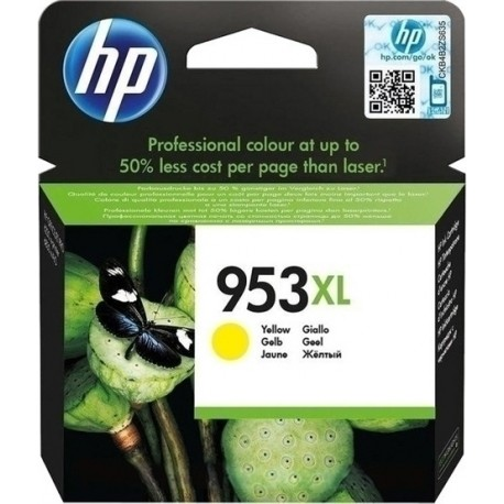 HP 953XL High Capacity Yellow Ink Cartridge - F6U18A