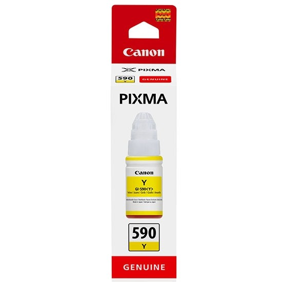 Yellow Canon GI-590 Ink Bottle - 1606C001
