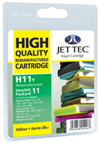 Replacement High Capacity Yellow Ink Cartridge (Alternative to HP No 11, C4838A)