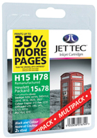 Replacement Black (Alternative to HP 15) Plus Replacement 78 Colour (Alternative to HP 78) Ink Cartridges Multi Pack