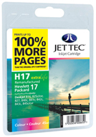 Replacement 100% More Pages Colour Ink Cartridge (Alternative to HP No 17, C6625A)