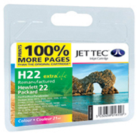 Replacement 100% More Pages Colour Ink Cartridge (Alternative to HP No 22, C9352A)