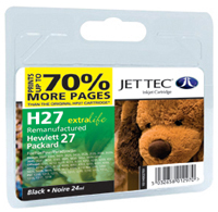 Replacement 70% More Pages Black Ink Cartridge (Alternative to HP No 27, C8727A)
