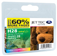 Replacement 60% More Pages Colour Ink Cartridge (Alternative to HP No 28, C8728A)