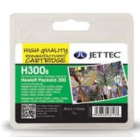 Jettec Replacement 300 Black Ink Cartridge (Alternative to HP No CC640E), 7ml