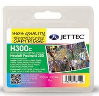 Jettec Replacement 300 Colour Ink Cartridge (Alternative to HP No CC643E), 12ml