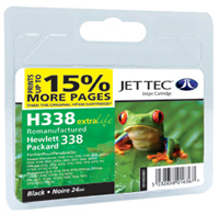 Replacement 15% More Pages Black Ink Cartridge (Alternative to HP No 338, C8765E)
