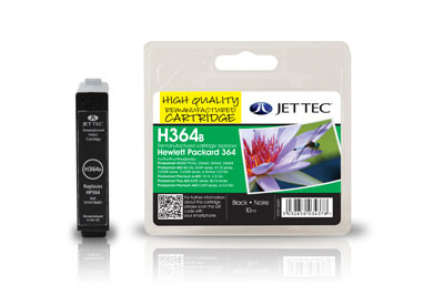 Jettec Replacement Black Ink Cartridge (Alternative to HP No 364, CB316E)
