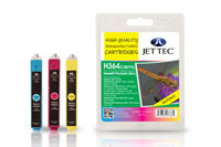 Jettec Replacement High Capacity Multi Pack CMY Ink Cartridges (Alternative to HP No 364XL)