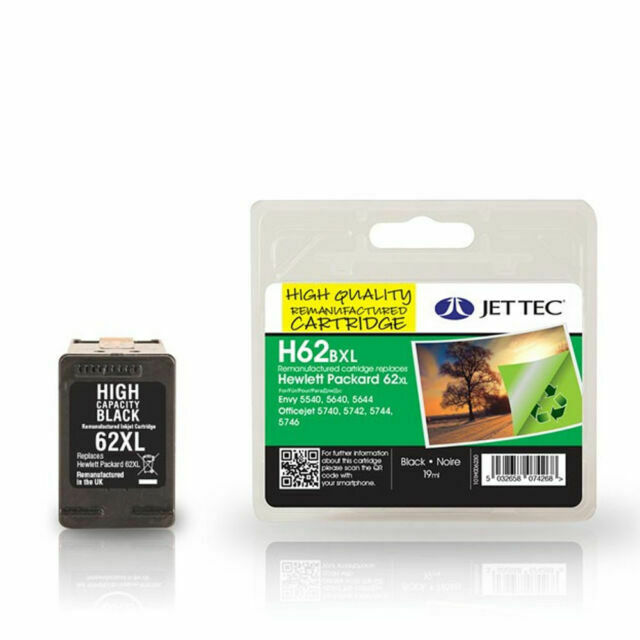 Black 62XL Ink Cartridge for HP C2P05AE Printer Cartridge