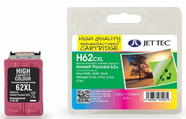 Tri Colour 62XL Ink Cartridge for HP C2P07AE Printer Cartridge