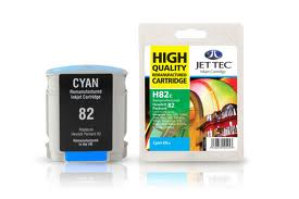 Jet Tec Replacement Cyan Ink Cartridge for C4911A, 69ml