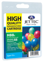 Replacement High Capacity Cyan Ink Cartridge (Alternative to HP No 88, C9391A)