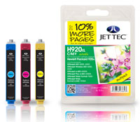 Replacement XL Combo Pack Cyan, Magenta, Yellow Ink Cartridge (Alternative to HP No 920XL)