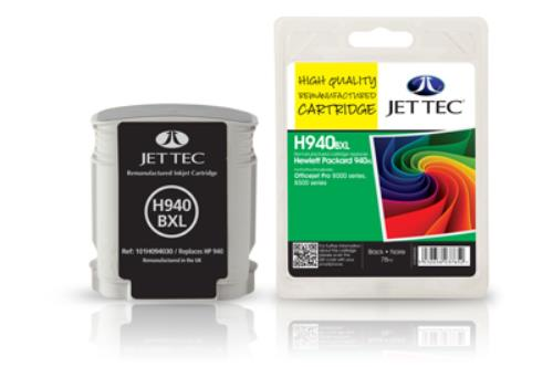 Jettec Replacement High Capacity Black Ink Cartridge (Alternative to HP No 940XL, C4906A)