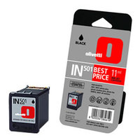 Olivetti IN501 Standard Capacity Black Ink Cartridge, 11ml
