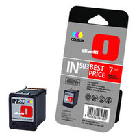Olivetti IN503 Standard Capacity Colour Ink Cartridge, 7ml