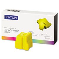 Katun Compatible 3 Yellow Solid Ink Wax Sticks