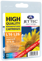 Replacement Black and Colour Ink Cartridges Multi Pack (Alternative to Lexmark No 16 and No 26)
