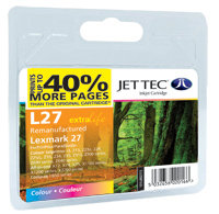 Replacement 40% More Pages Colour Ink Cartridge (Alternative to Lexmark No 27, 10N0227E)