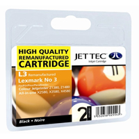 Replacement Black Ink Cartridge (Alternative to Lexmark No 3, 18C1530E)