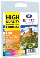 Replacement Colour Ink Cartridge (Alternative to Lexmark No 80, 12A1980E)