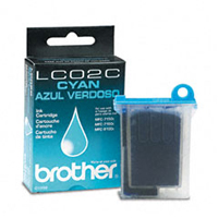 Brother LC-02C Cyan Ink Cartridge