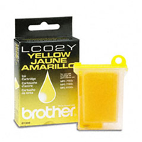 Brother LC-02Y Yellow Ink Cartridge