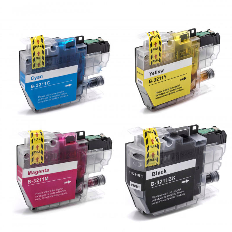 Brother LC3211 Multi Pack Ink Cartridge High Capacity Compatible LC3211BK/LC3211C/LC3211M/LC3211Y)