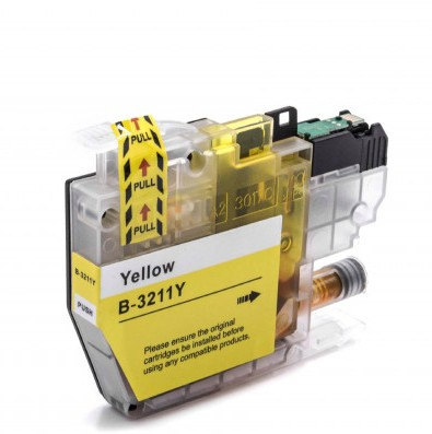 Brother LC3211Y Yellow Ink Cartridge - High Capacity Compatible LC-3211Y Inkjet Printer Cartridge