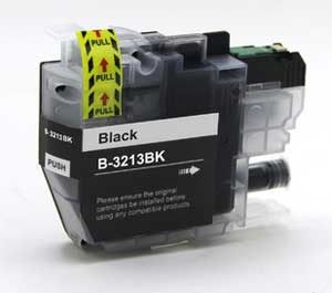 Brother LC3213BK Black Ink Cartridge - High Capacity Compatible LC-3213BK Inkjet Printer Cartridge