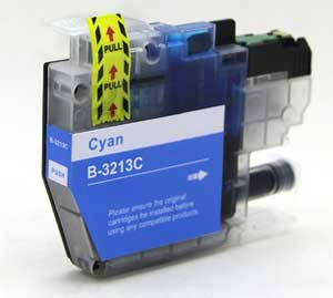 Brother LC3213C Cyan Ink Cartridge - High Capacity Compatible LC-3213C Inkjet Printer Cartridge